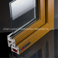 Wood Laminated UPVC PVC Profile for UPVC PVC Window Door with UV Resistance